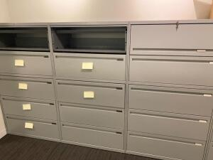 5 Filing Cabinets