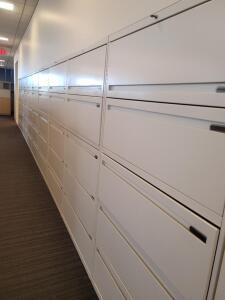 8 Filing cabinets