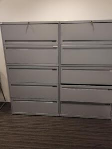 Filing cabinets - set of 2