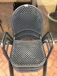 3 Metal Patio Dining Chairs