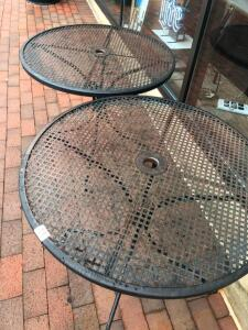 2 Round Metal Patio Tables