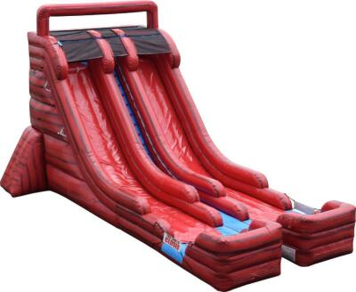 Brand New 22ft double lane water slide-Marble Red