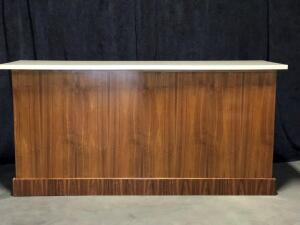 8ft Walnut Panel Bar