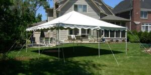 20x20 Canopy Complete with Poles and Stakes