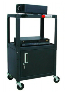 NEW in Box - HamiltonBuhl Adjustable Height Steel Cart with Locking Security Cabinet